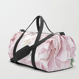 Pretty Pink Roses Floral Garden Duffle Bag