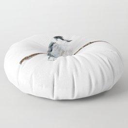 Gray Jay by Teresa Thompson Floor Pillow