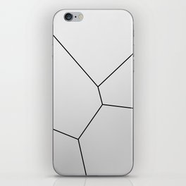 MNML BRKN SLVR iPhone Skin