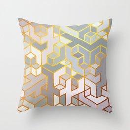 Cubes Of Craziness Throw Pillow