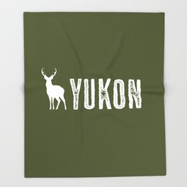 Deer: Yukon, Canada Throw Blanket