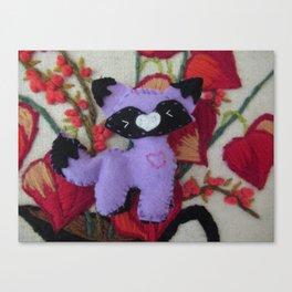 Little Purple Fox Canvas Print