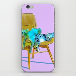 animals in chairs #12 Cats iPhone Skin