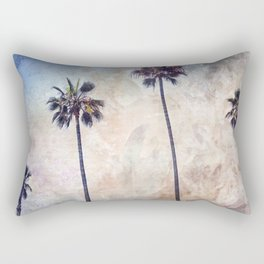Palm Trees Watercolor Rectangular Pillow