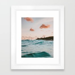 summer sunset iv Framed Art Print
