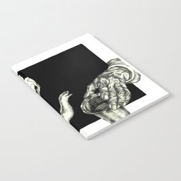 Geometric Black and White Drawing Tea Pot Time Notebook