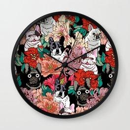 Because French Bulldogs Wall Clock