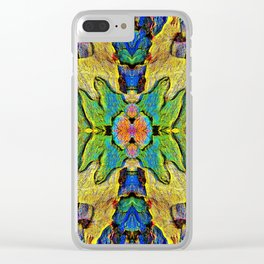 Colorful  Nature Wood Pattern Psychedelic Art Clear iPhone Case