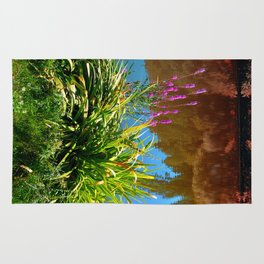 Flowers at the pond Rug