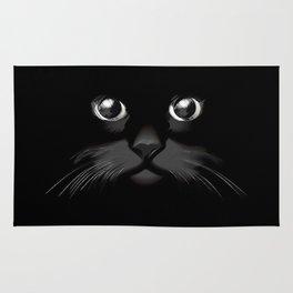 The Dark Cat Face Rug