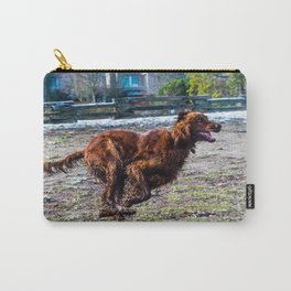 Irish Setter running full gallop Carry-All Pouch