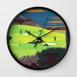 Stirling For Golf Wall Clock