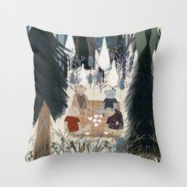 teddy bear picnic Throw Pillow