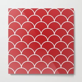 Scales - red Metal Print