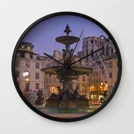 Rossio fountain, Lisbon Wall Clock