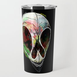 Rainbow Skull Travel Mug