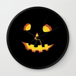 HALLOWEEN Carved Pumpkin • Costume & Trick-or-Treat Bag Wall Clock