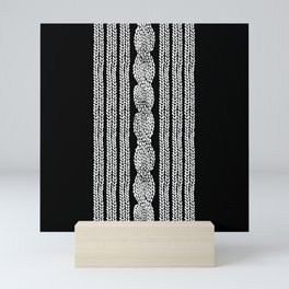 Cable Stripe Black Mini Art Print