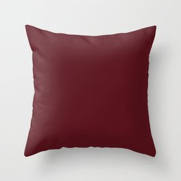 Chocolate Cosmos - solid color Throw Pillow