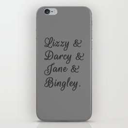 The Pride and Prejudice Couples I iPhone Skin