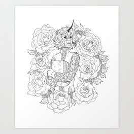 Thorns and Roses Art Print