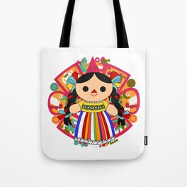 Maria 2 (Mexican Doll) Tote Bag