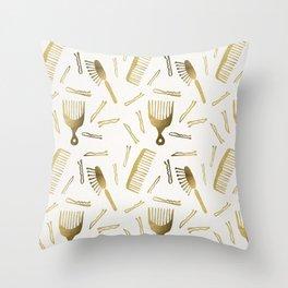 Good Hair Day – Gold Palette Throw Pillow