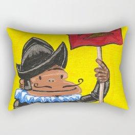 Conquistador Ape on Yellow Rectangular Pillow