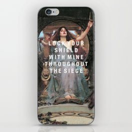 lock your shield iPhone Skin
