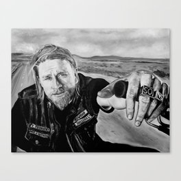 """Jax Teller"" Sons of anarchy Canvas Print"