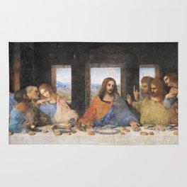 Last dinner Leonardo Da Vinci Rug