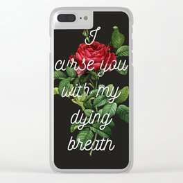 Curses Clear iPhone Case