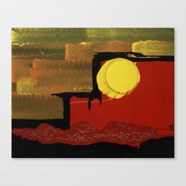 Terraces on the Red Planet Canvas Print