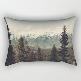 Snow capped Sierras Rectangular Pillow