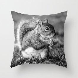 Squirrel Conquer Throw Pillow