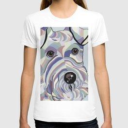 Wire Hair Terrier Denim Colors T-shirt