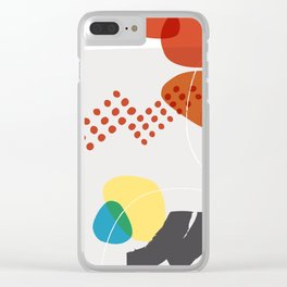Shape & Hue Series No. 3 – Yellow, Orange & Blue Modern Abstract Clear iPhone Case