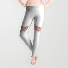 Pretty Lashes Rose Gold Glitter Pink Leggings