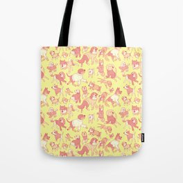 Dogs In Sweaters (Yellow) Tote Bag