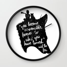 The Prince and the Fox Wall Clock