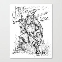 Warrior Saint Nicholas Canvas Print