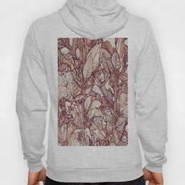 abstract camouflage leaves Hoody