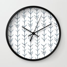 Twigs and branches freeform gray Wall Clock