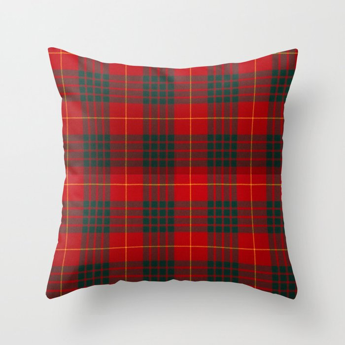 CAMERON CLAN SCOTTISH KILT TARTAN DESIGN Throw Pillow