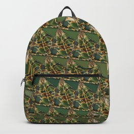 3D triangles with camo pattern Backpack