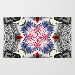 Abstract Americana Collage Rug