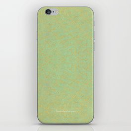 Green and Gold Pattern iPhone Skin