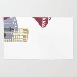 Khobar skyline poster Rug