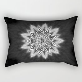 Black Ice Mandala Swirl Rectangular Pillow