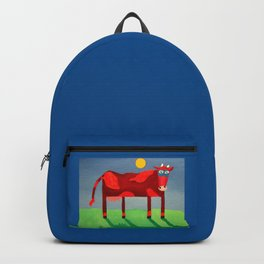 Udderly Confused - Funny Cow Art Backpack
